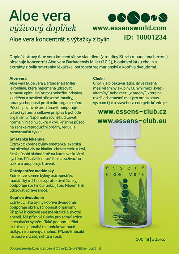 Aloe vera koncentrat - Essens ID-10001234