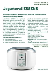 Colostrum Yogurt maker - Essens ID-10001234